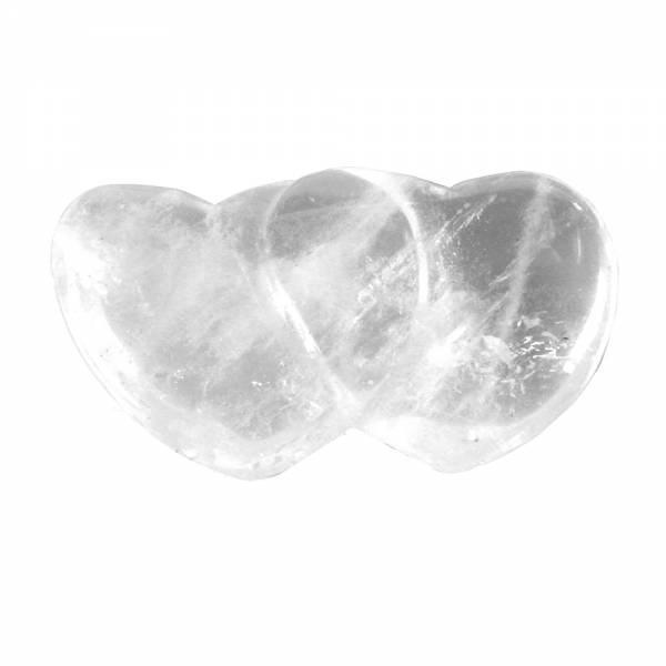 Partnerherzen - klein - Bergkristall