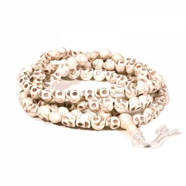 Mala Knochen 108 schädelförmige Perlen1 cm