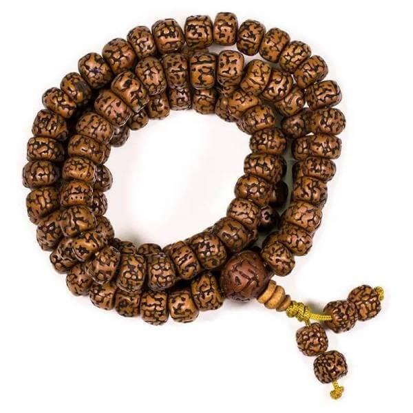 Mala Rudraksha 108 Perlen 1 cm
