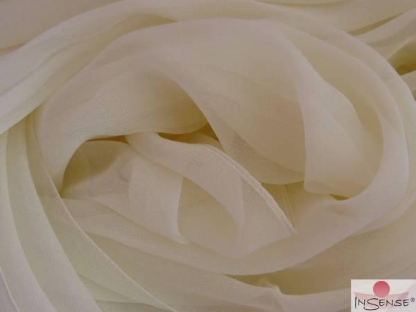 Chiffon-Seidenschal - Lakshmi Spirit of Ivory