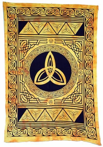 Ritualdecke Tagesdecke Wandbehang Celtic Gold / Schwarz - Normalgröße