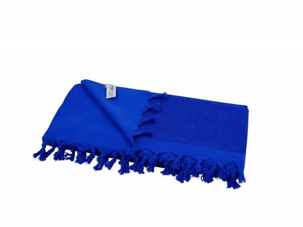Liegetuch Frottee - royalblau