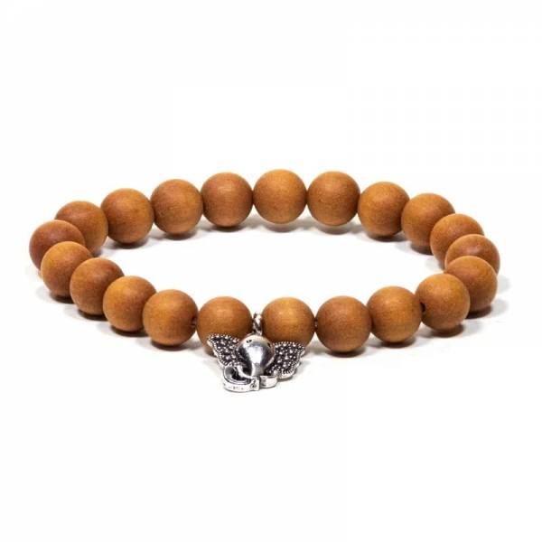 Mala/Armband Sandelholz elastisch Ganesha