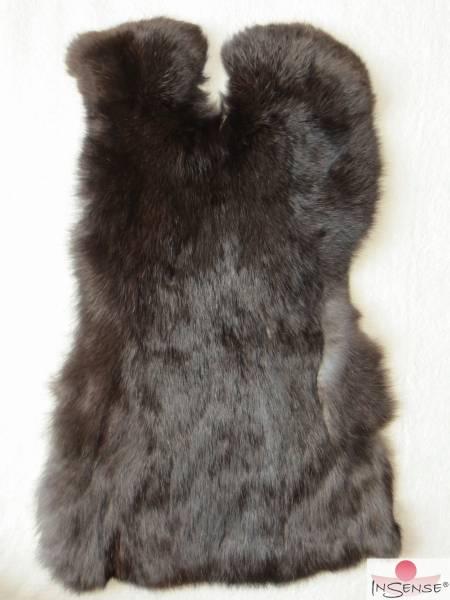 Kaninchenfell - schwarzbraun (L)