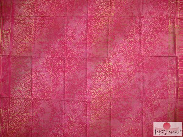 "Premium Lunghi | Sarong - ""Elegance"" pink-gold"