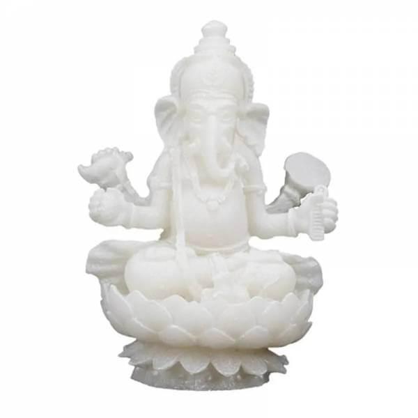 Ganesha Statue weiss 10 cm