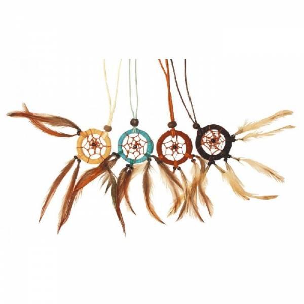 Traumfänger - Halskette türkis