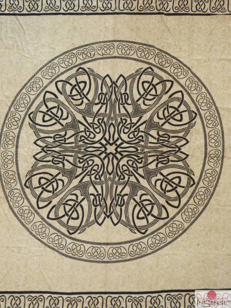 Ritualdecke - Celtic Mandala Ivory - Doppelt