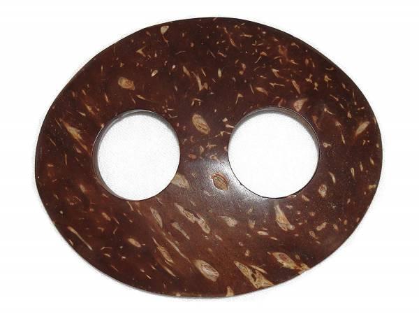Halter für Lunghis - Kokosnuss-Schale oval