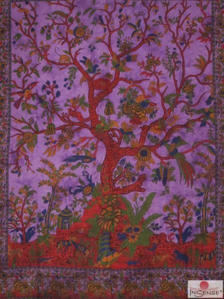 Ritualdecke - Tree of Life purple - Doppelt