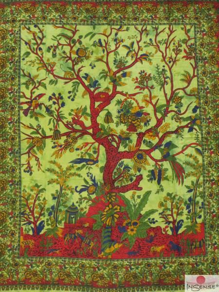 Ritualdecke - Tree of Life green - Doppelt