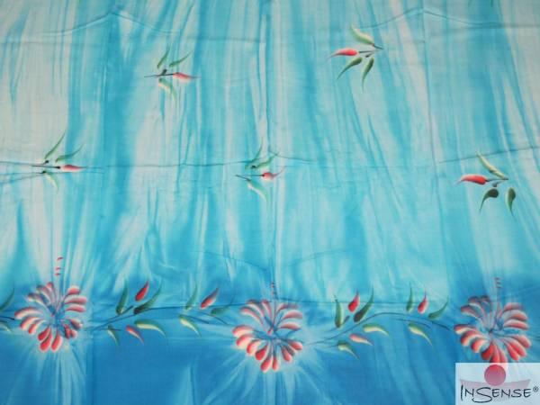"Premium Lunghi | Sarong - ""Fleur"" turquoise"