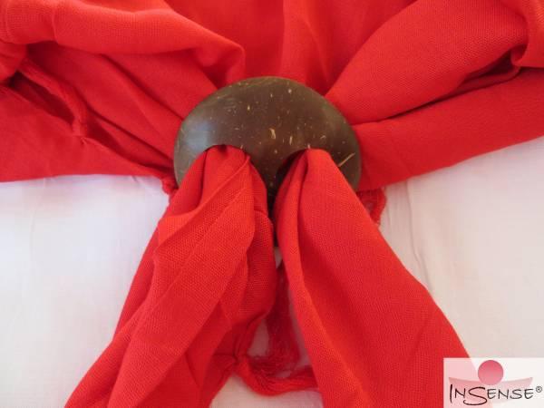 Halter für Lunghis - Kokosnuss-Schale rund