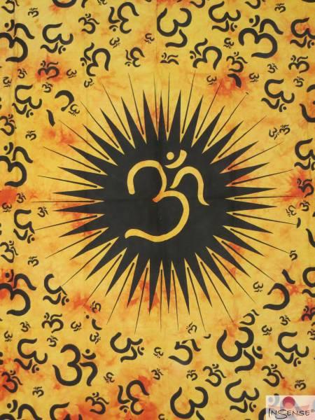 Ritualdecke - OM Mania gelb - Doppelt