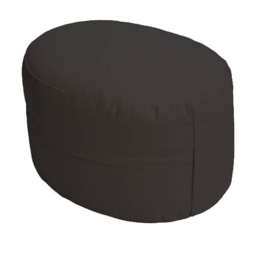 Meditationskissen - CLASSIC Oval schwarz
