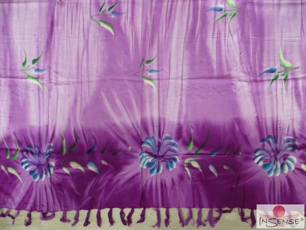 "Premium Lunghi | Sarong - ""Fleur"" violett"