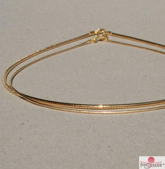 Omega-Reif - Silber vergoldet, fein - 42 cm
